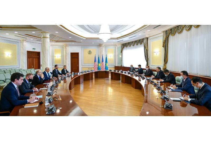 Kazakh FM Mukhtar Tleuberdi meets US Special Representative for Afghanistan Zalmay Khalilzad