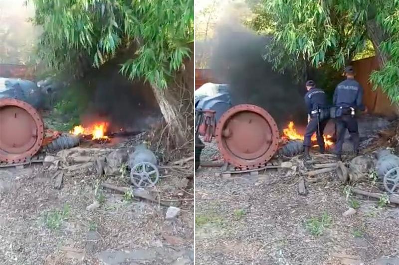 Гвардейцы помогли потушить пожар хозяину дома в Темиртау