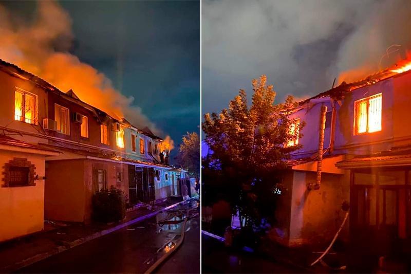 Жилой комплекс «Гаухартас»горел в Атырау