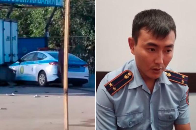 Полицейский, насмерть сбивший женщину в Алматы, признал свою вину