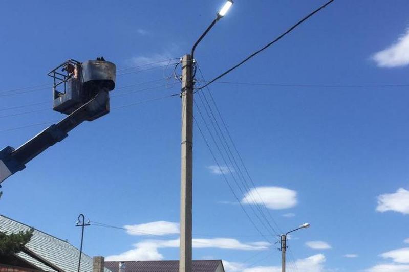 Масштабная реконструкция уличного освещения началась в Сатпаеве