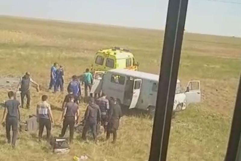 Восемь человек пострадали в ДТП в Акмолинской области