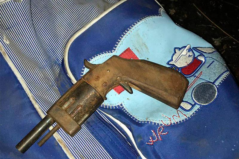 Кустарный револьвер изъят у рецидивиста в Алматы