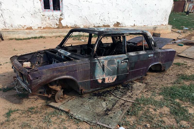 В Актюбинской области сгорело авто: погиб ребенок, второй получил ожоги