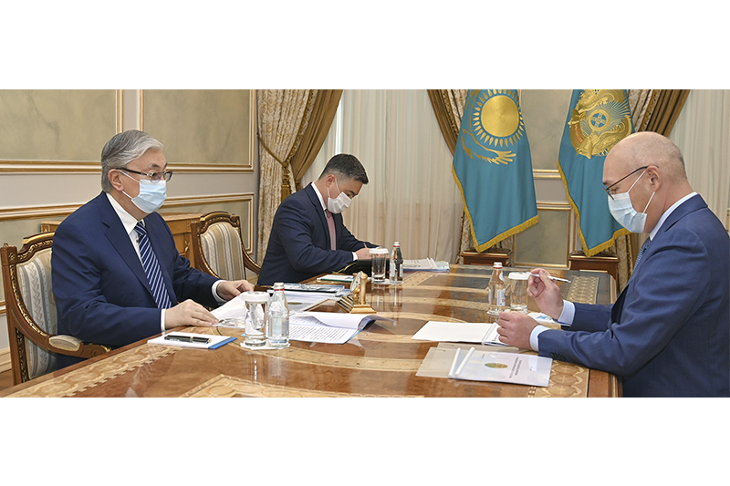 Kairat Kelimbetov reports to President on national projects development