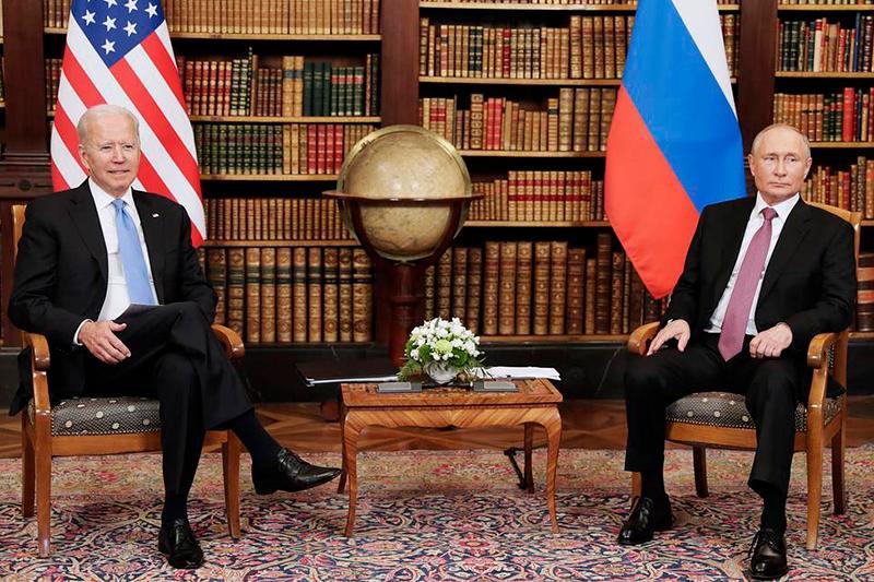美俄两国总统在日内瓦会晤