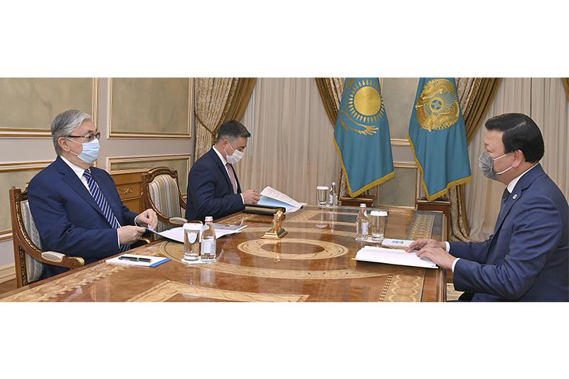 Президент РК принял министра здравоохранения Алексея Цоя