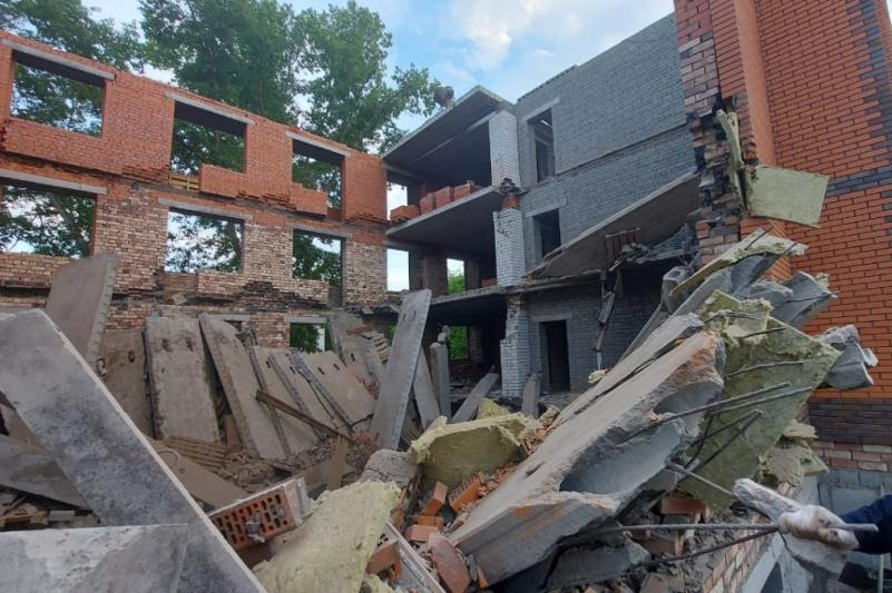 В Павлодаре обрушился строящийся четырёхэтажный дом