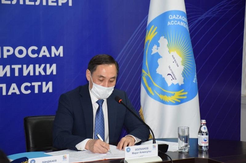 Марат Азильханов ознакомился с работой этнокультурных центров при АНК Алматинской области