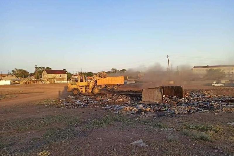 Около 300 тонн мусора вывезено из поселка Сарышаган в Карагандинской области