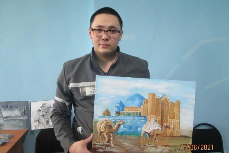 Нарисованную осужденным картину приобрели на аукционе за 130 тысяч тенге