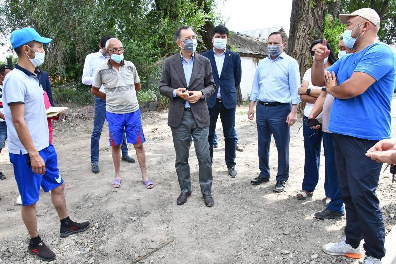 В Турксибском районе Алматы продолжается благоустройство территорий
