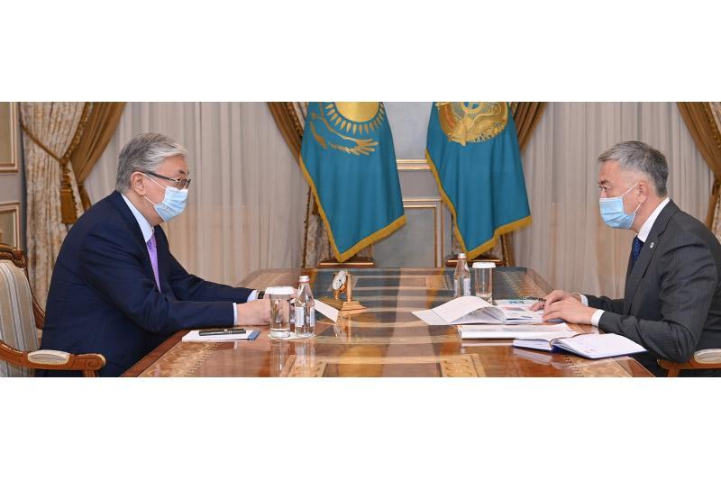 Президент РК принял председателя Агентства по защите и развитию конкуренции