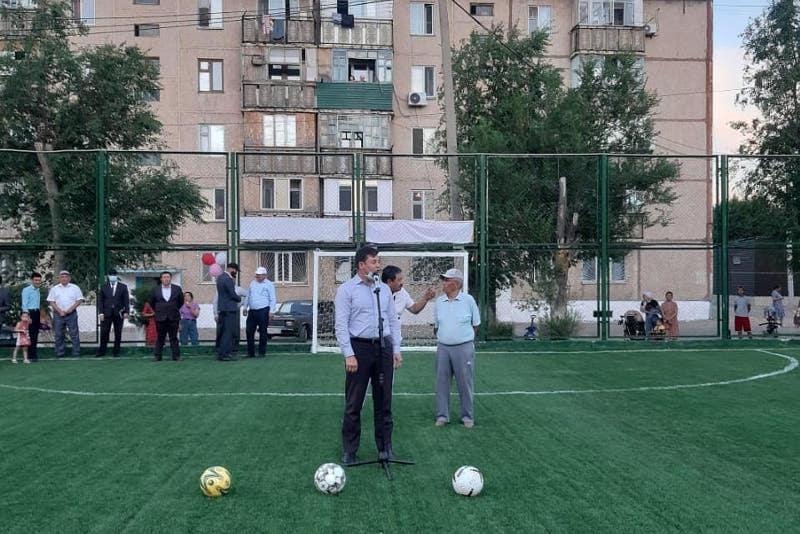 Спортплощадки открывают в горняцком городе Жанатасе