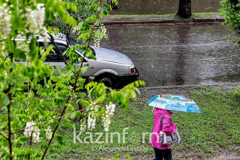 Сильный дождь обещают в Алматы