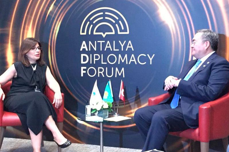 Мухтар Тлеубердивстретился с президентом Международного фонда тюркской культуры и наследия