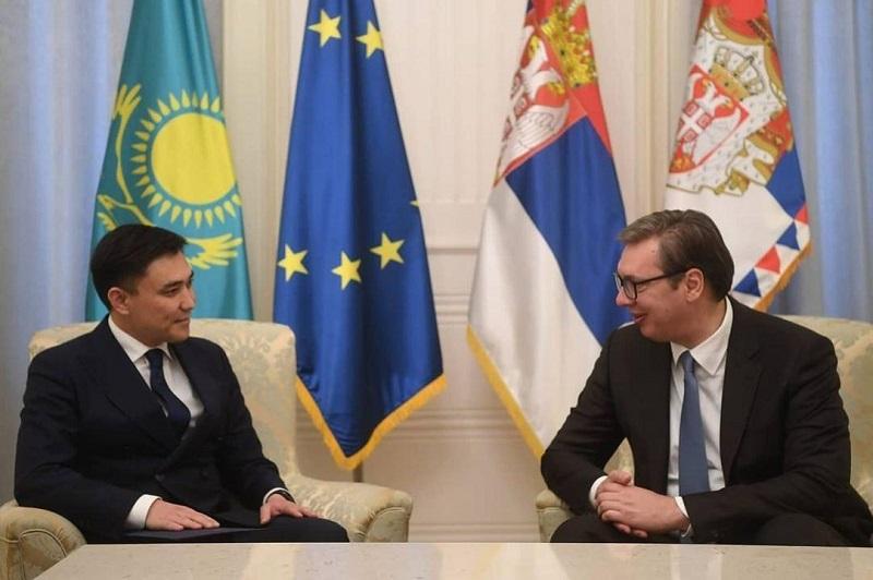 Serbian President receives Kazakh Ambassador