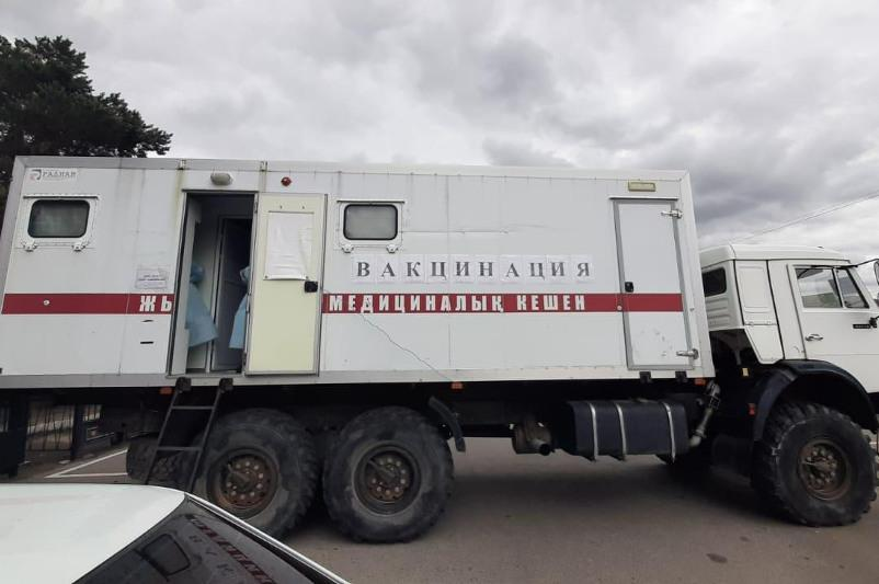 Вакцинироваться смогут жители отдалённых сёл Каркаралинского района в передвижных прививочных пунктах