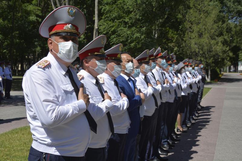Профессиональный праздник отметили жамбылские полицейские