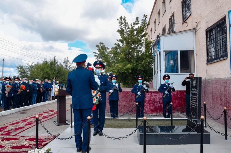 Қарағанды облысында қаза тапқан полиция қызметкерлерінің құрметіне ескерткіш орнатылды