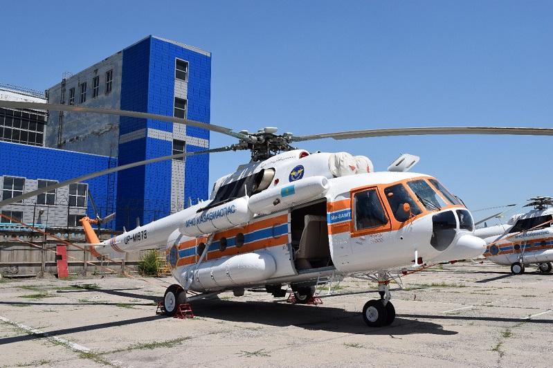 Авиапарк МЧС пополнился вертолетами казахстанской сборки