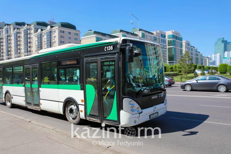 Режим работы общественного транспорта в Нур-Султане остается без изменений