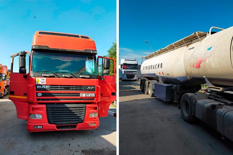Қырғызстанға  55 тонна бензинді заңсыз өткізбек болғандар ұсталды
