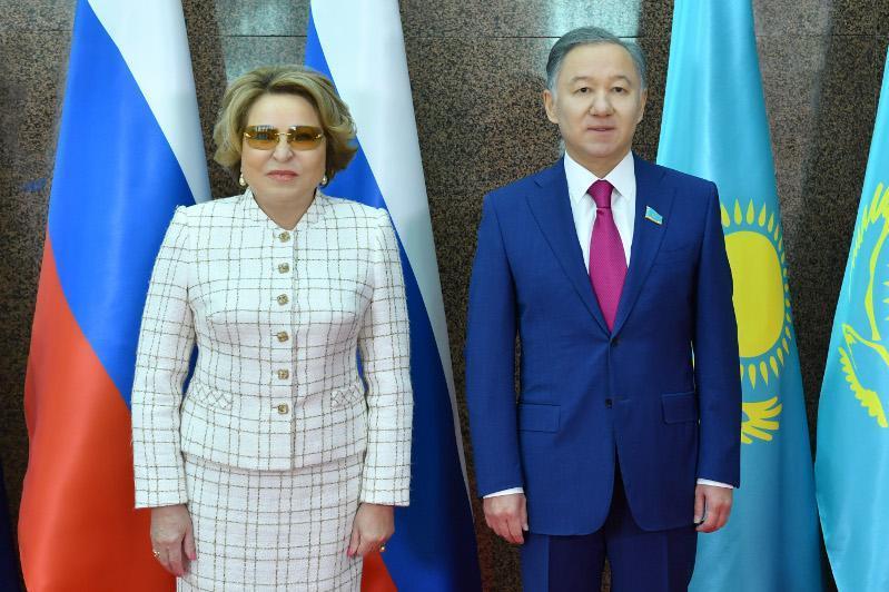Nigmatulin, Matviyenko discuss inter-parliamentary cooperation in Nur-Sultan
