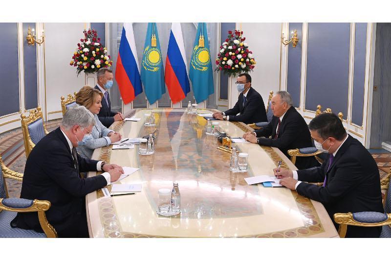 Nursultan Nazarbayev, Valentina Matviyenko hold talks