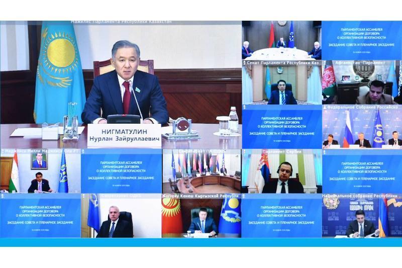 尼格马图林出席集安组织议会大会视频会议