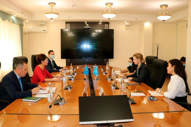 Information Minister Balayeva meets with UN Resident Coordinator for Kazakhstan
