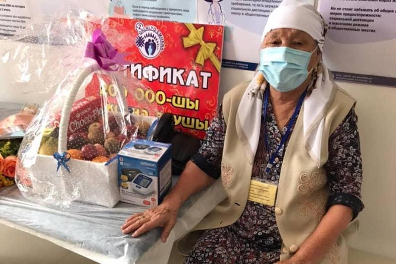 83yo becomes 200,000thto get anti-COVID-19 vaccine in Zhambyl region