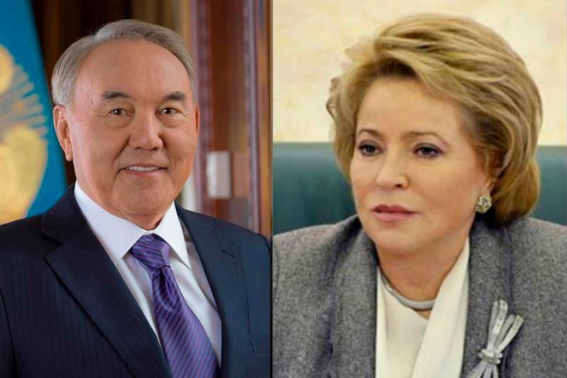 Валентина Матвиенко Қазақстанның Тұңғыш Президентін құттықтады