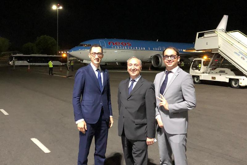 Первый рейс из Милана приземлился в аэропорту Алматы