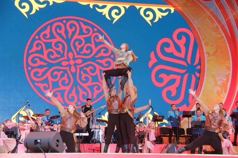 Танец тюркских воинов представил ансамбль Нацгвардии Казахстана на Всемирной Фольклориаде