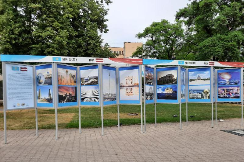 Photo exhibition about Kazakhstan's Capital City opens in Riga