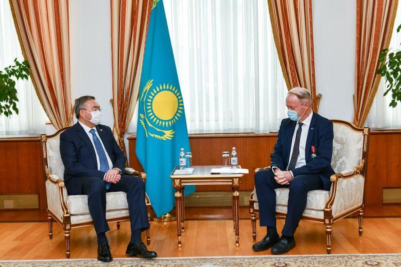 Глава МИД Казахстана принял посла Европейского союза