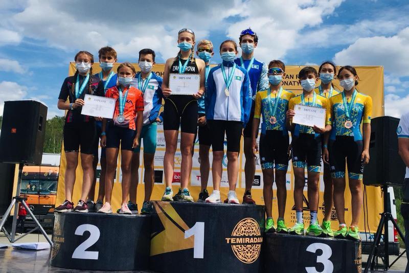 Akmola rgn athletes win Kazakhstan's Triathlon Mixed Relay Championships