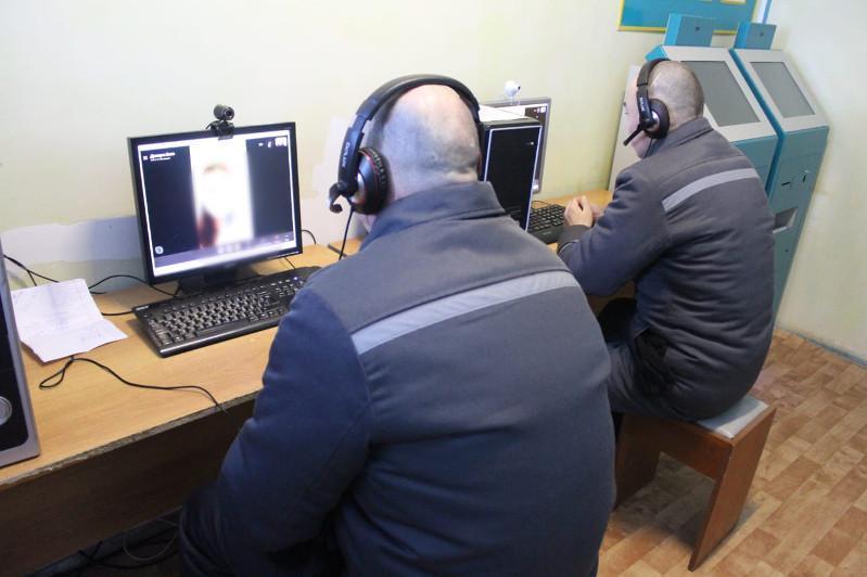 Свидания осужденных с родными проводятся по видеосвязи в Казахстане