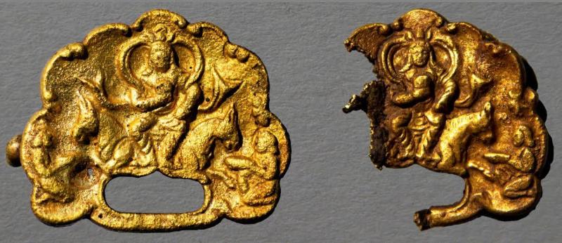 ShQO-da qaǵandar beınelengen altyn táj artefaktiler tabyldy