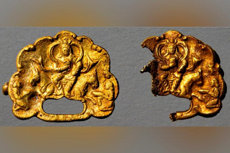 Golden artifacts featuring kagans in crowns unearthed in E Kazakhstan