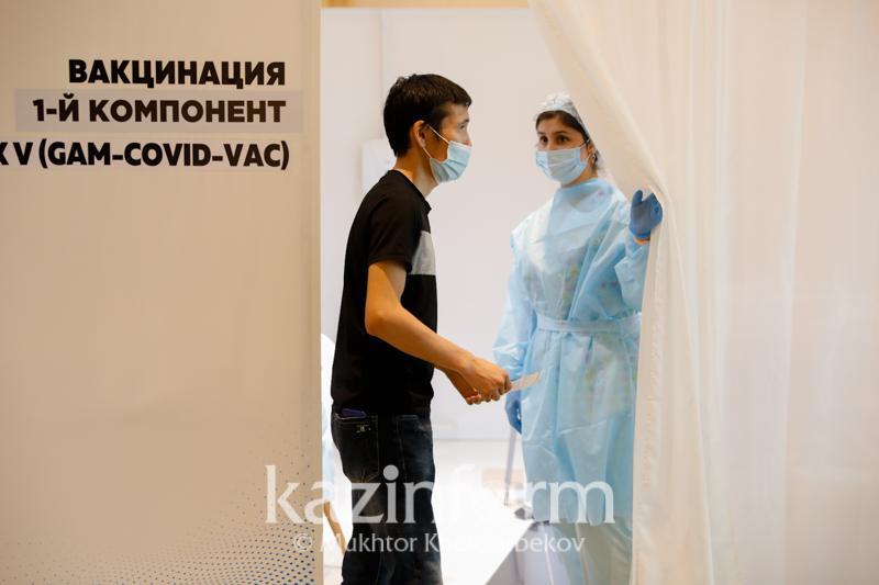 Более 4,6 млн казахстанцев привились первым компонентом вакцины от КВИ