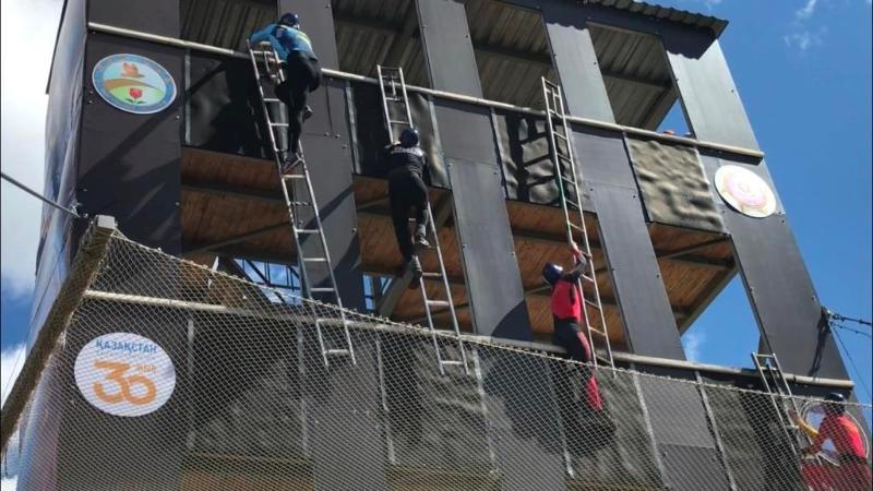 Летний чемпионат РК по пожарно-спасательному спорту стартовал в Костанайской области