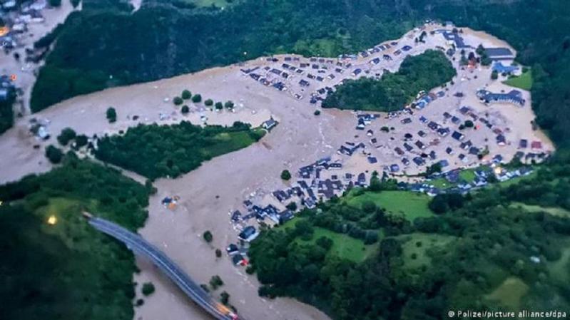 西欧多国遭遇大洪水 德国受灾最重