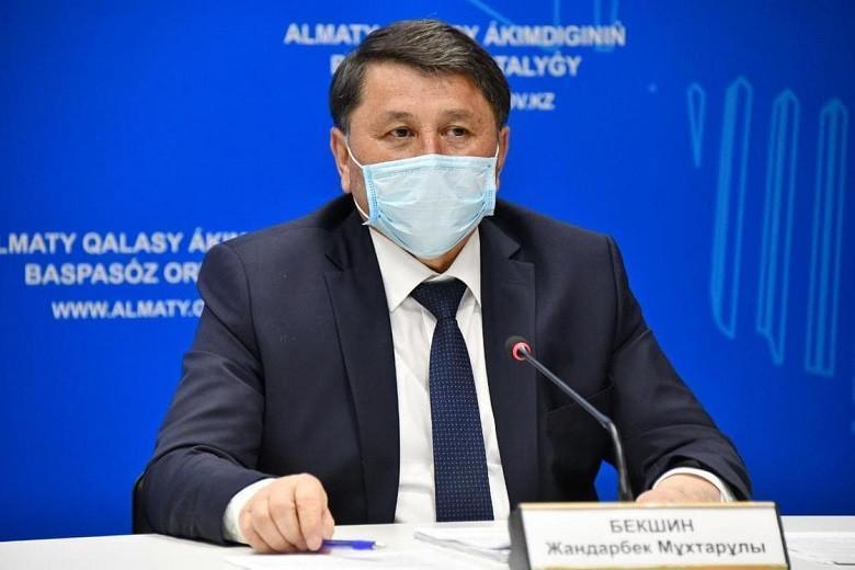 Jandarbek Bekshın: Almatyda epıdemıologııalyq jaǵdaı kúrdeli