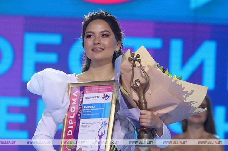 Kazakhstan's Rukhiya wins Grand Prix of song contest in Vitebsk