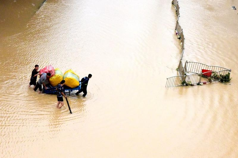 China on second-highest emergency response for floods