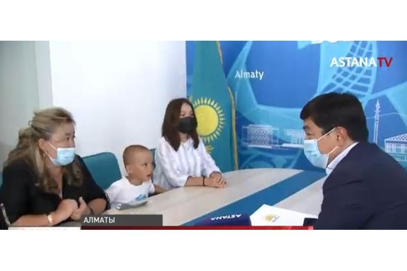 Бауыржан Байбек провел прием граждан в Алматы