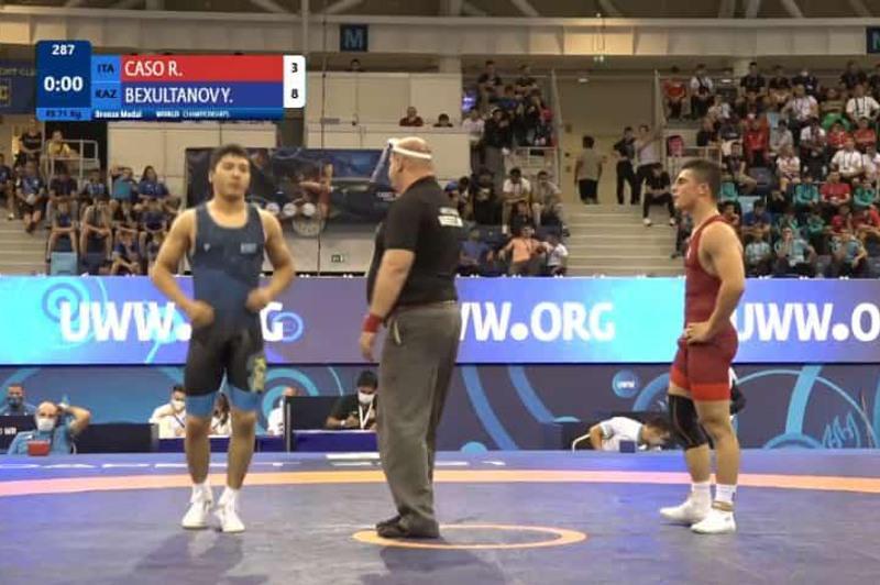Акмолинский борец выиграл «бронзу» на Чемпионате мира