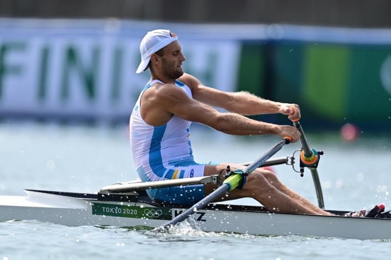奥运会赛艇预赛:哈萨克斯坦选手获第三